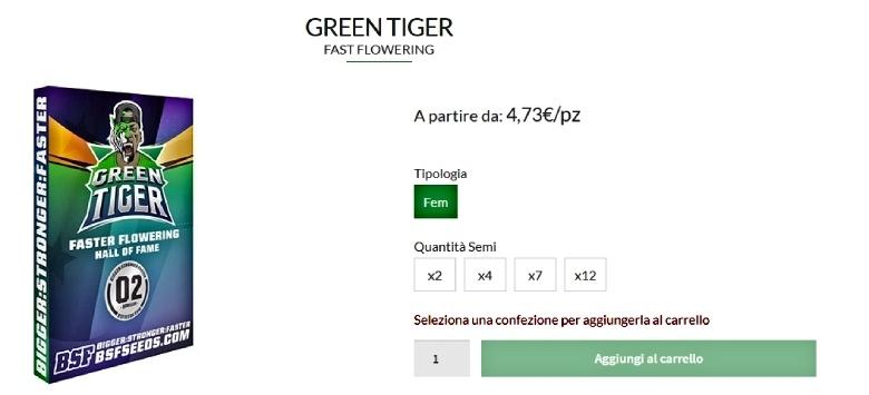 green tiger cannabis seeds